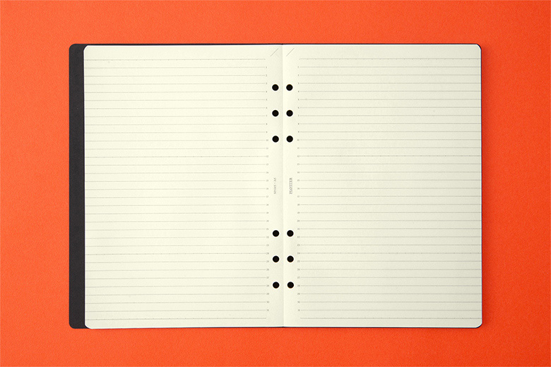 005 ノートパッド6mm罫線80枚 A5サイズ(77716715)